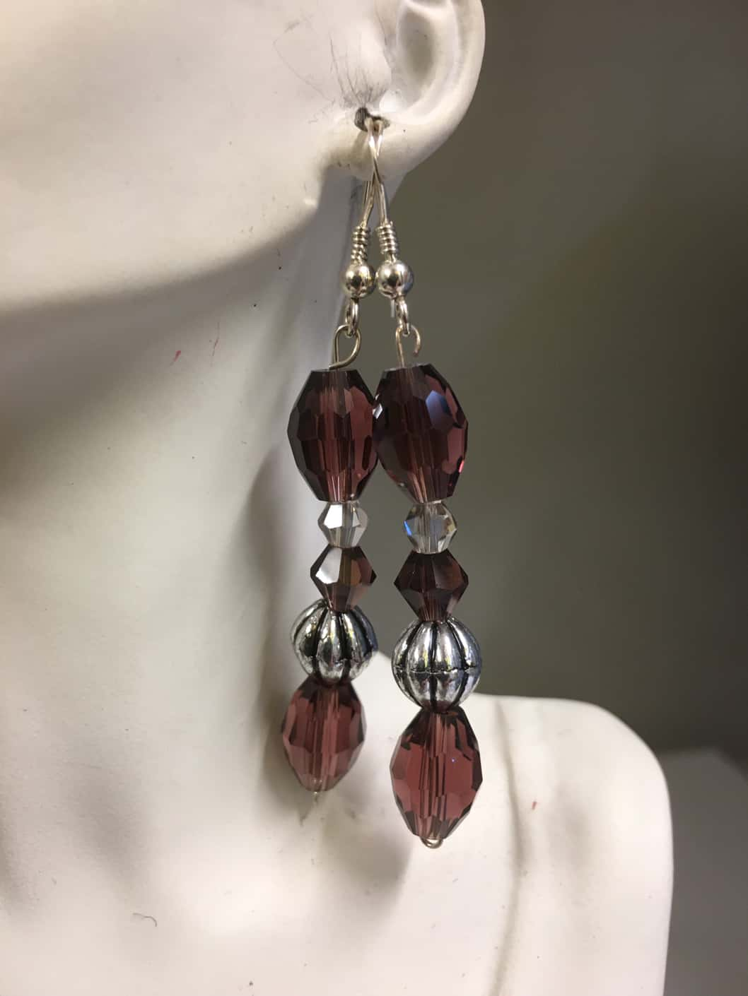 Burgundy Sliver and Clear